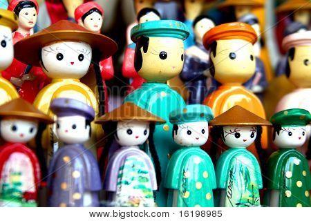 Vietnamese puppets in Hanoi, Vietnam.