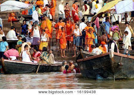 Religious ceremony at Varanasi Uttar Pradesh India