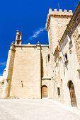 Постер, плакат: Дворец Овандо Паласио де Лас Ciguenas Плаза де Санта Мария Касерес Эстремадура Испания
