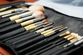 pic of makeup artist  - makeup Brushes - JPG