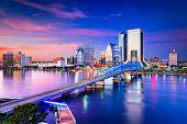 Jacksonville, Florida, USA Skyline. poster