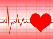 Постер, плакат: Иллюстрация пульс сердца