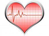Постер, плакат: Пульс сердца векторные иллюстрации