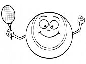 (raster image of vector) tennis ball