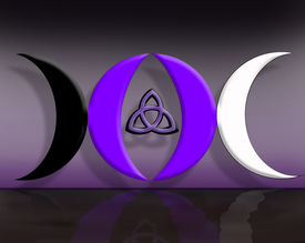 picture of triquetra  - Computer generated image created using X3D and Adobe Photoshop - JPG