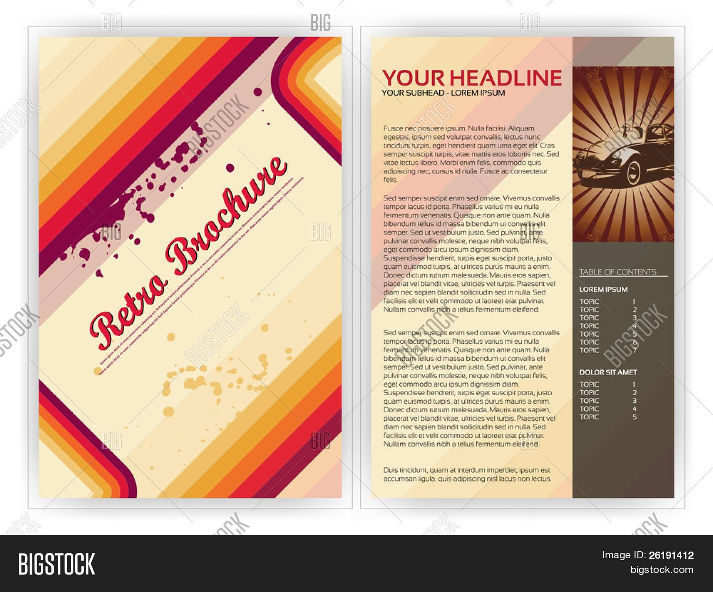 Retro Brochure Template EPS10 Vector Design Vector – Retro Brochure Template