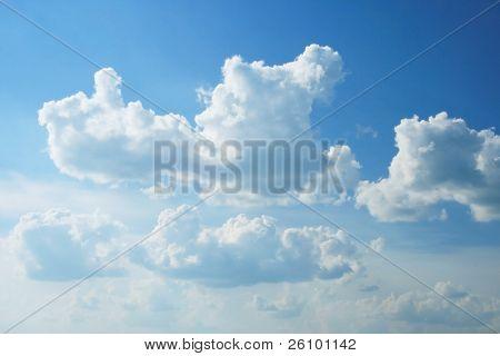 Travel. Summer in Russia. Beautiful sky
