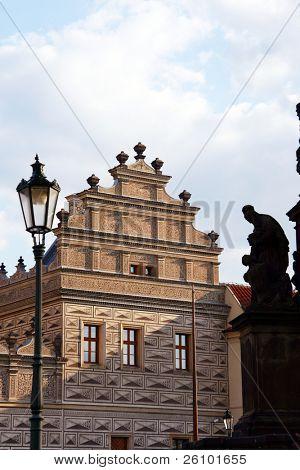 Prague. Medieval house