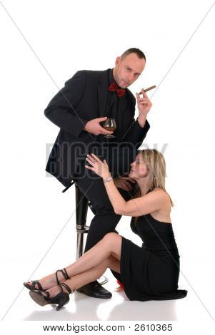 Male Gigolo, Woman At His Feet