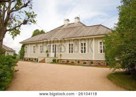 Travel in Russia. Pskov Region. Mikhailovskoye - family estate of Alexander Pushkin.
