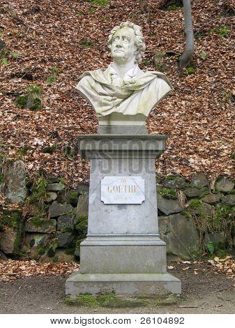 Johann Wolfgang Goethe monument, Karlovy Vary, Czech Republic
