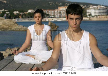 Yoga Class Outdoors