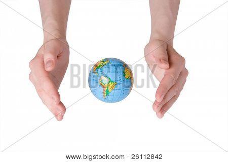 hand care Earth globe