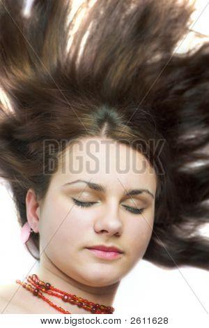 Beautiful Young Woman Lying