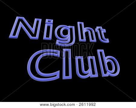 Neon Text - Night Club.