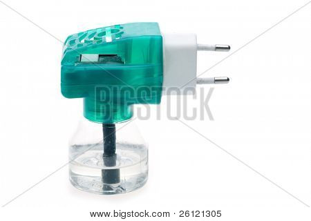 bane liquid for gnat in electronic device isolated over white background