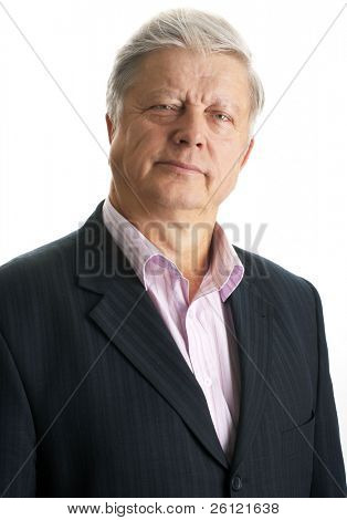 mature businessman over white background
