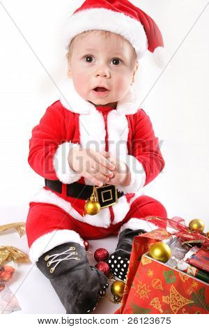 little Santa Claus baby