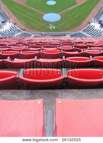 Nosebleed seats at Dodgers Stadium, Los Angeles, California