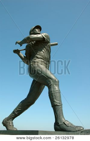 Statue of baseball legend Willie McCovey in San Francisco, California