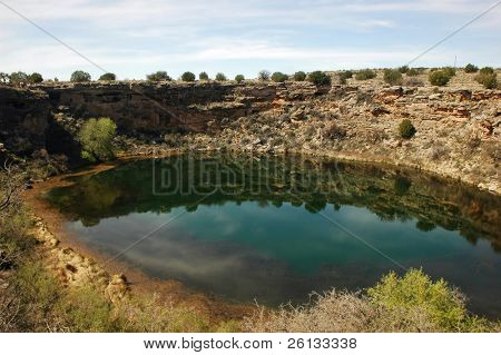 Spring at Montezuma's Well National Monument, Camp Verde, Arizona