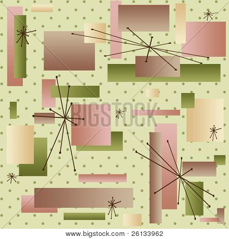 Retro background reminiscent of the styles of the late 50s and early 60s (vector)