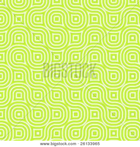 Retro abstract of rounded squares in different hues of green