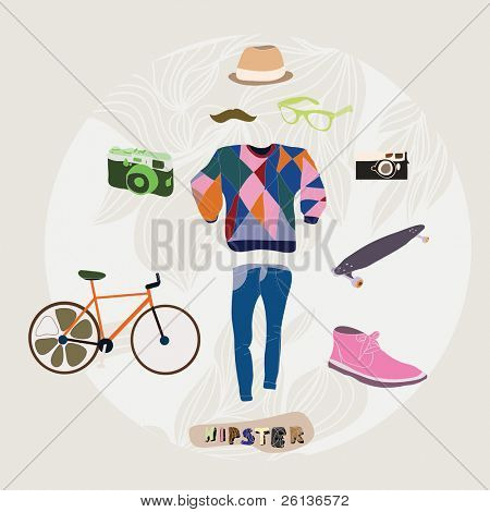 Hipster style how to be a hipster set