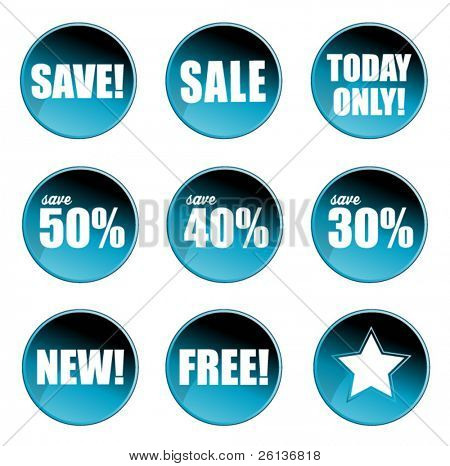 Collection of Sale Badges