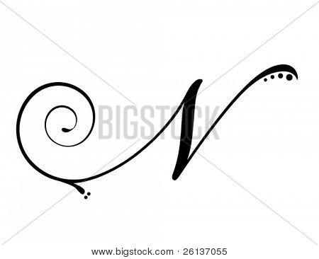 Letter N - Script