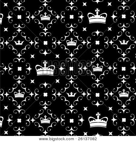 Crown Pattern Wallpaper