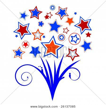 Patriotic Star Bouquet