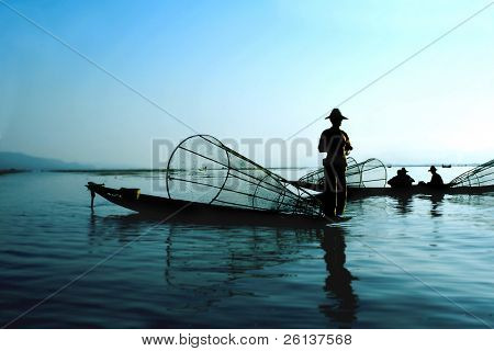fishermen on water