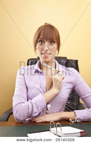 Surprised office worker