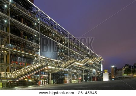 The cultrual center Centre Pompidou at night