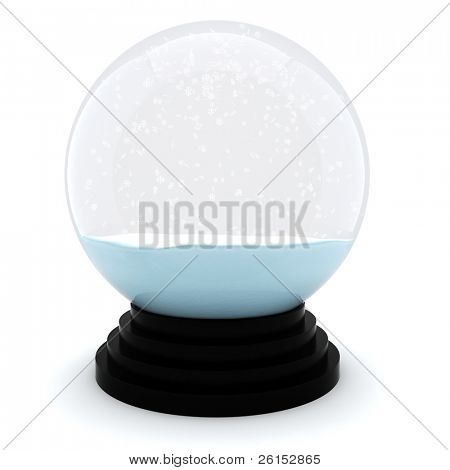 3d Chrystmas dome, on white background