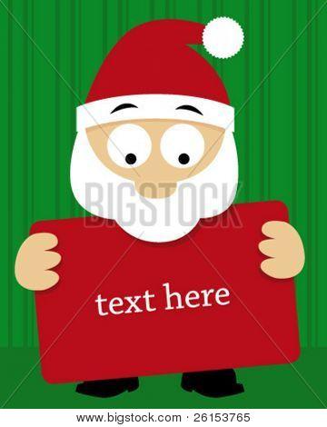 Santa Claus Card background