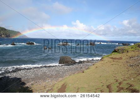 Double Rainbow on the backside of Maui