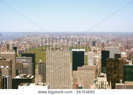 View of Skyscrapers and Central Park