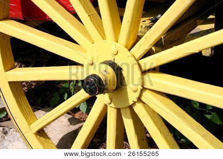 A Yellow Wagon Wheel