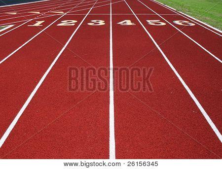 Six Lane Running Track