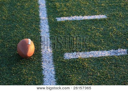 Football near the yardline