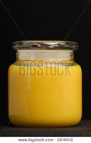 Yellow Jar Candle