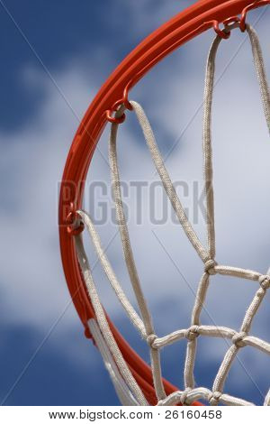 Basketball Hoop Close up