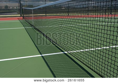 Tennis Court Net with Shadow and room for copy