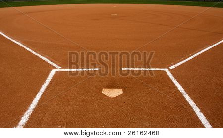 Baseball Infield at Home Plate