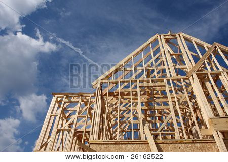 New House Construction Frame with room for copy