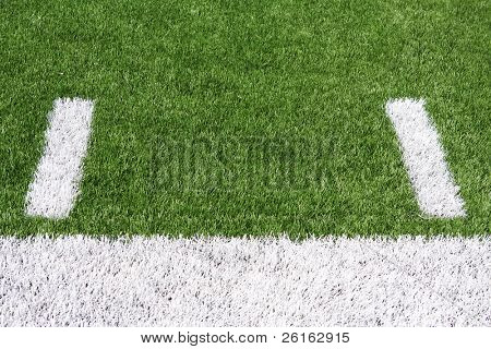 Yard Lines or Hashmarks of a American Football Field with room for copy