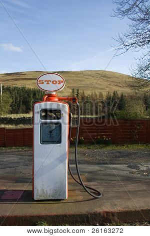 Old style fuel pump, scotland, highlands