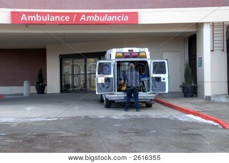 Ambulance At Hospital 4